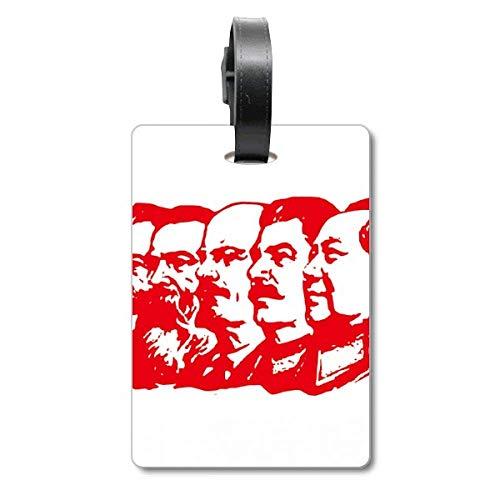 Red Marxism - Etiqueta de identificación para Maleta, diseño de Mao China, Color Rojo