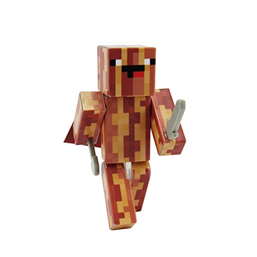 EnderToys Derpy Crispy Bacon Action Figure Toy, 4 Inch Custom Series Figurines