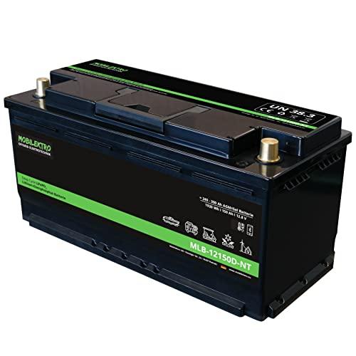 MOBILEKTRO® LiFePO4 150Ah 12V 1920Wh Lithium Versorgungsbatterie mit BMS und Bluetooth -30 °C - EQ 240Ah - 300Ah AGM oder GEL Aufbaubatterie für Wohnmobil, Boot, Camping oder Solaranlage, L6 DIN-Größe