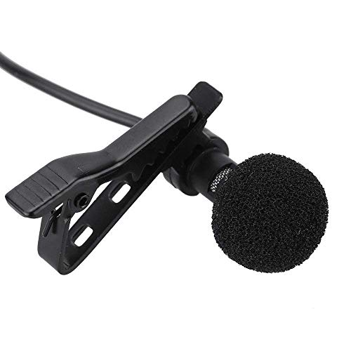 Zither Professional Mini Lavalier Microphone 3.5mm Omnidirectional Condenser Clip on Noise Cancelling Lav Mic for Smartphones || Laptops || YouTube || Interview || Studio || Video Recording (Black)