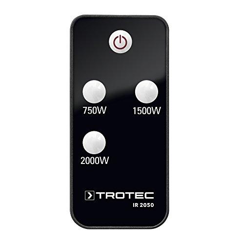 TROTEC Infrarot Heizstrahler IR 2050 Heizstrahler Quarzstrahler Terrassenheizer Wickeltischstrahler, Infrarot, Infrarotwärme ohne Vorheizen, strahlwassergeschützt, 2000 Watt - 5