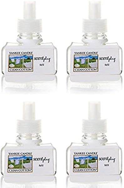 Yankee Candle Clean Cotton ScentPlug Refill 4 Pack