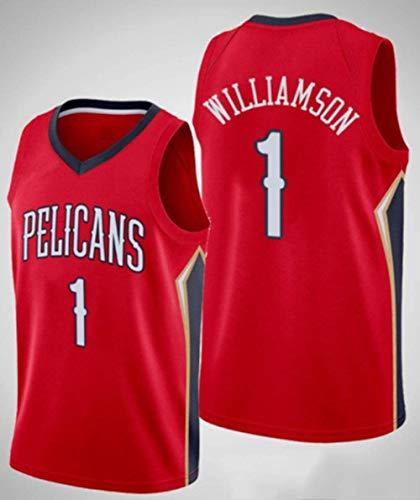 Hombres Mujeres Jersey New Orleans Pelicans #1 Zion Williamson Jersey de Malla...