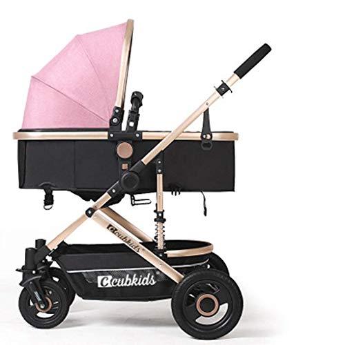 Yanzz Babyprodukt Klappsitz Liegender Boarding BabyPrams Bequeme Kinderwagen Dämpfende Compact-Spaziergänger, 0-25kg (Farbe: C-Art) (Farbe: C Style) dsfhsfd (Color : E Style)