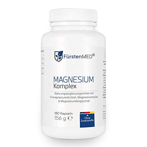 FürstenMED® Magnesium Komplex aus Magnesiumdicitrat, Magnesium Malat & Magnesium Bisglycinat - Vegan & Ohne Zusätze - aus Deutschland