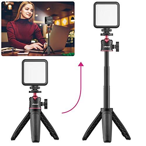 Kit de iluminación para Videoconferencia Con Luz De Video Led + Trípode + Abrazadera Para Teléfono,Configuración De Vlogging Equipo De Youtube Para iphone 11 Pro Max Xs 8 Para Samsung Huawei Google