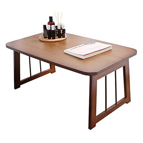 Mesa Escritorio del Ordenador portátil Plegable Estilo japonés Mesa de Comedor de Mesa Mesa de Estudio ventanal Tatami (Color : Brown, Size : 70 * 40 * 26cm)