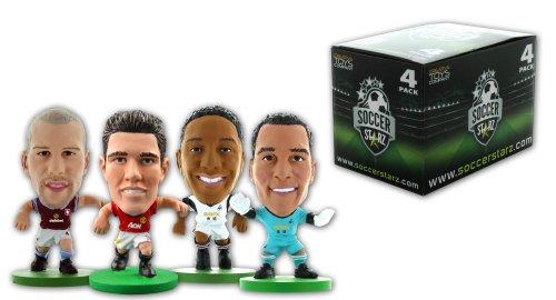 SoccerStarz 4 Figurine Blister da Olanda Internazionale Stars in Kit di Club con Van Persie / Vorm / de Guzman e Ron Vlaar