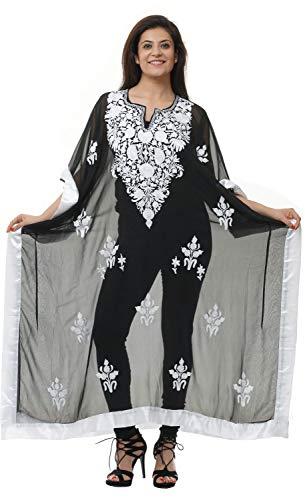 Odishabazaar Georgette Kashmiri Aari Work Designer Long Kaftan (G-FZF)