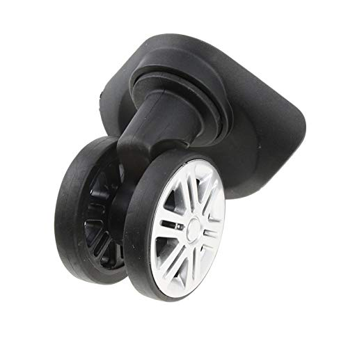 LQIAN 2 Pieces Suitcase Luggage Dual Roller Wheels Replacement Casters For Trolley Case Black Heavy Duty Castor