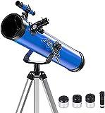 ZHEYANG telescopios astronomicos Telescopio Refractor Astronómico De 114 Mm con Trípode Ajustable Telescopio De Viaje Portátil para Niños, Niños, Adolescentes