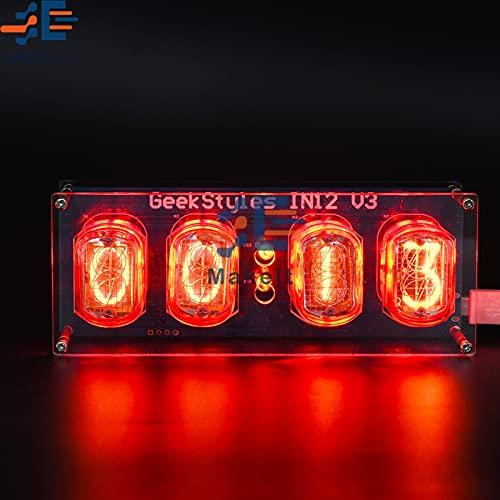 IN12 Nixie Clock LEDランプチューブクロックDIYキットIN12グローチューブクロック回路基板PCBAグローチューブDIYレトロクロックモジュール New