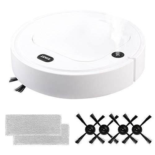 Migaven Robot Aspirador de Barrid, Robot Aspirador 5 En 1 USB Recargable 1800Pa Succión Fuerte Robot de Barrido Automático Aspirador de Desinfección Uv para Limpieza de Pisos