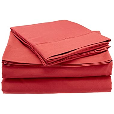 Sweet Home Collection 6 Piece 1500 Thread Count Deep Pocket Bed Sheet Set - 2 EXTRA PILLOW CASES, GREAT VALUE - King, Burgundy