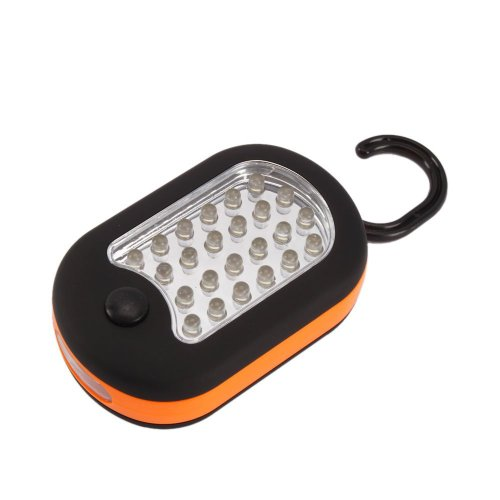 27 LED Super Bright Compact Waterproof Home Work Light Worklight Bivouac Fishing Camping Hiking Tent Lamp Lantern Flashlight w/ Hanging Hook Orange by Generic