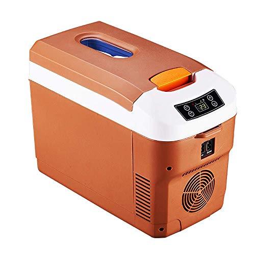 SHKUU Refrigerador para automóvil, refrigerador portátil, Mini refrigerador pequeño para automóvil, 12L-15L, 12V, 24V, Brown-B-12L
