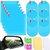 12 Películas Protectora de Espejo Retrovisor de Coche Películas Protectora de Espejo Impermeable Película Protectora de Coche de Nano Revestimiento Anti Niebla para Espejos Coche y Ventanas Laterales