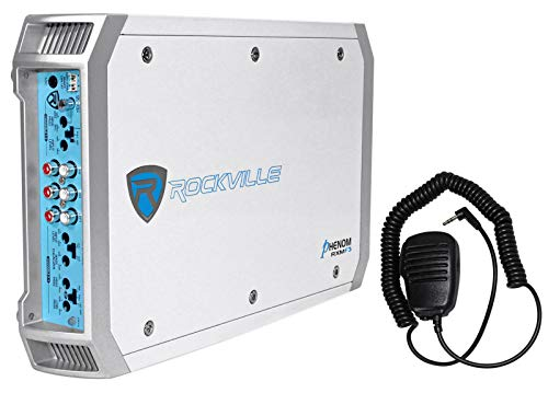 New Rockville RXM8BTW 8 Channel 1500 Watt Marine/Boat Amplifier Amp w/Bluetooth