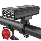 BIKIL Bike Lights Set Front and Back USB Rechargeable, Super Bright 1100 Lumen