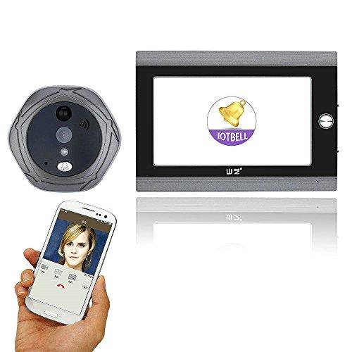 WiFi Wireless Video Doorbell, 720P Digital Peephole Door Viewer 7 inch Front Door Peephole Camera with Intercom Kits