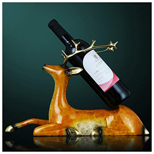 Meet World Estante para Vino Estante para Vino Puro Ciervo Ciervo Creativo Simple Vinoteca Decoración Adornos Bar Estante para Vino