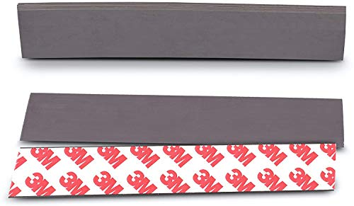 NextClimb Flat Magnetic Tape Strips Extra Strong Magnet and Adhesive Tape - Perfect for Teachers, Crafts and DIY Projects (10-Pack (1 x 5.8in) 3M Adhesive)
