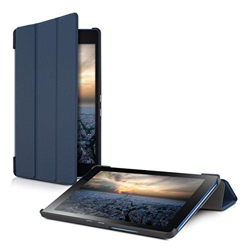 kwmobile Hülle kompatibel mit Lenovo Tab3 8 - Smart Cover Tablet Hülle Schutzhülle - Stand - in Dunkelblau