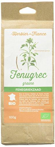 L'herbier de France Fenugrec Graines Bio Sachet Kraft, 100 g