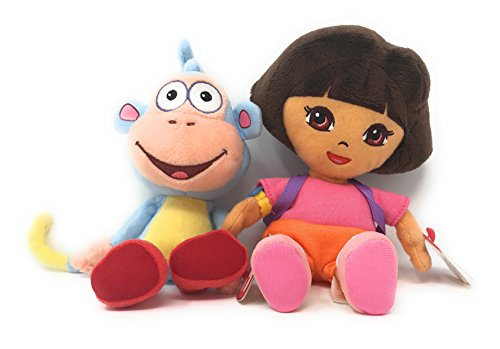 Ty Beanie Babies Dora the Explorer set of 2, Dora and Boots