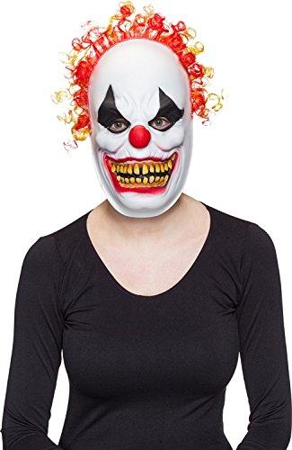 ORLOB Déguisement Halloween Masque Horreur Clown Cheveux