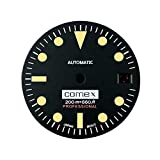 LICHIFIT Vintage 28.5MM Watch Dial Green Luminous Dial with Calendar for NH35 Watch Movement Repair Part