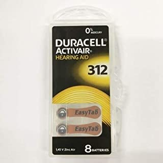 Duracell Activair Mercury Free Hearing Aid Battery Size 312, 16/pk