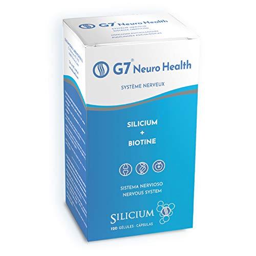 G7 NEURO GESUNDHEIT: Silizium + Biotin | Gehirnergänzung, Veganer Multivitaminkomplex für Konzentration und Gedächtnis : Vitamin- und Mineralstoffformel zur Verringerung von Müdigkeit und Erschöpfung