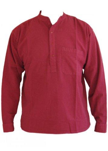 Vin papy col chemise en coton taille petite à 2XL Large