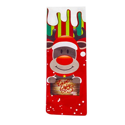 Fxhan rode wijn champagne fles cover voor kerstfeest banket decoratie avondeten