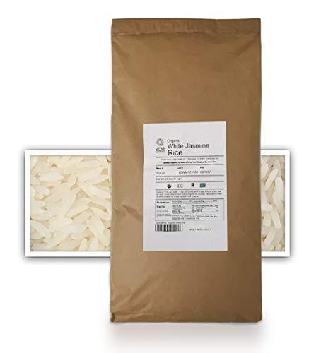 Lotus Foods Gourmet Organic Jasmine Rice, 25 Pound (Pack of 1)
