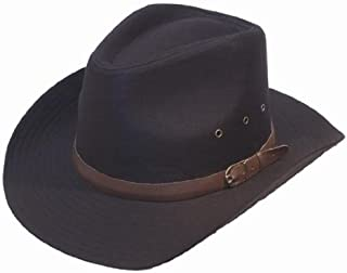 Uomo nero Stetson da cowboy stile cappello a larga tesa 58//57 Cms