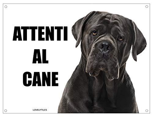 CANE CORSO attenti al cane mod 3 TARGA cartello IN METALLO (15X20)