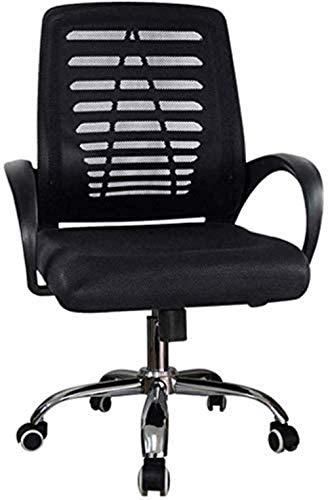 XUANFEI Bürostuhl Computer Stuhl Bürostuhl Heavy Duty Back Home Büroarbeit Gaming Schreibtischstuhl Kippmechanismus 360 Grad schwenkbar (Color : Black)