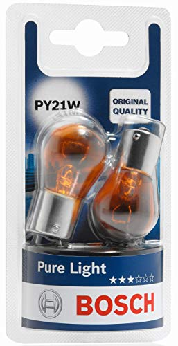 Lámparas Bosch para vehículos Pure Light PY21W 12V 21W BAU15s (Lámpara x2)