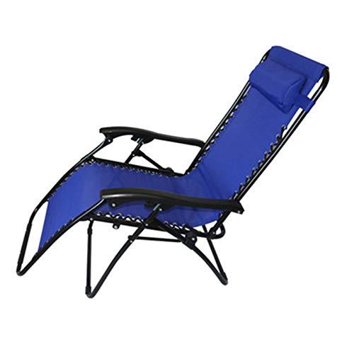 Mecedora de jardín Silla de Gravedad reclinada de sillas de Patio para Acampar al Aire Libre Sillas...