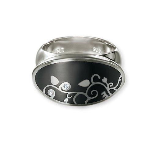 Esprit iocony-anello Little Liana Black Sterling-Silber 925, Argento, 50 (15.9), cod. 44015149160