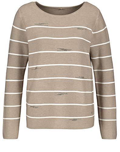 Gerry Weber Casual Damen 97518-44702 Pullover, Mehrfarbig (Ecru/Weiss Ringel 9092), (Herstellergröße: 44)