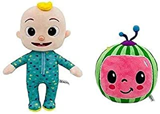 AMERTEER CoComelon JJ and Melon Plush Stuffed Animal Toys, 2 Pack - for Ages 18 Months and up