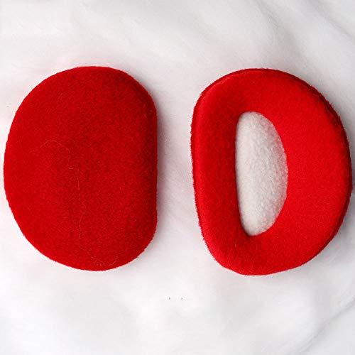 YLL Plegable Mujer Orejeras de Lana Puro Caliente Orejeras de Invierno Masculino Bolsa a Prueba de Viento del oído oído Portable Independiente cálido (Color : Rojo)