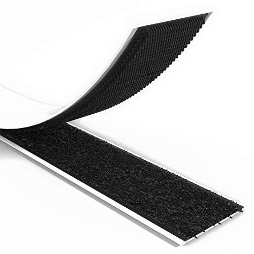 Rietlow Klettband Selbstklebend Extra Stark - 8m Länge 20mm Breite - Klettverschluss selbstklebend aus Polyester und reißfestem Nylon - Verbesserte Version