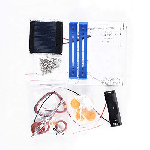 Blue & Schwarz Kinder-Spielzeug aus Kunststoff Diy Handmade Solar Electric Car Assembly Auto Hybridauto 6