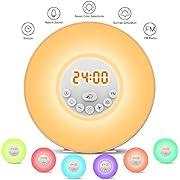 Wake-up Light,StillCool Radiosveglia Sveglia Luce con 6 Suoni Radio FM 10 Luminosità Touch Control Tramonto Snooze Alba Luce con USB Cavo