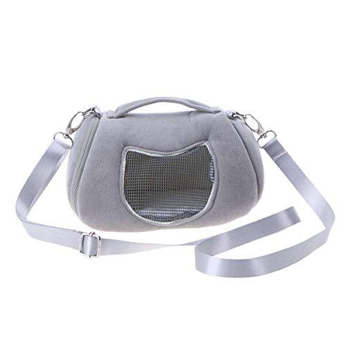 Petyoung Hamster-Tragetasche, tragbare Reise-Umhängetaschen Atmungsaktives Ausgabe Tasche-Etui für kleine Haustiere Igel, Zuckersegelflugzeug, Chinchilla, Meerschweinchen und Eichhörnchen