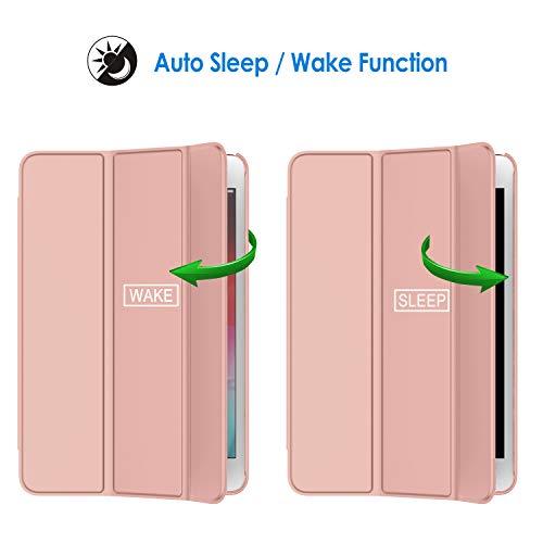 JETech Hülle Kompatibel mit iPad Mini 5 (2019 Modell 5. Generation), Intelligent Schutzhülle mit Auto Schlafen/Wachen (Roségold)